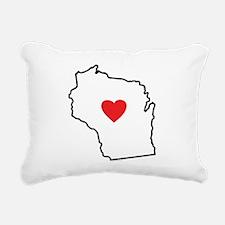 I Love West Virginia Rectangular Canvas Pillow