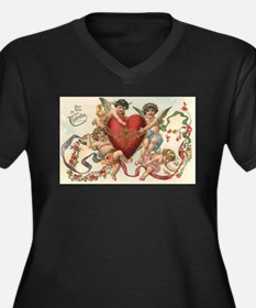 Vintage Valentine's Day Plus Size T-Shirt