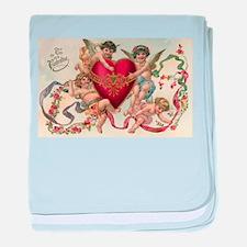 Vintage Valentine's Day baby blanket