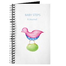 Pink Bird Blue Journal