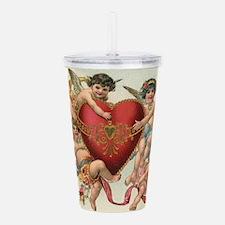 Vintage Valentine's Da Acrylic Double-wall Tumbler