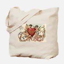 Vintage Valentine's Day Tote Bag