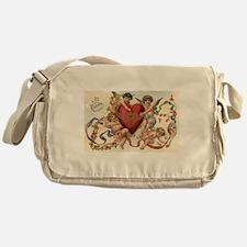 Vintage Valentine's Day Messenger Bag