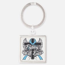 Graves Disease Faith Square Keychain