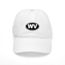West Virginia WV Euro Oval Baseball Cap