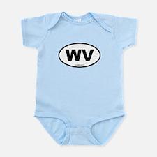 West Virginia WV Euro Oval Infant Bodysuit