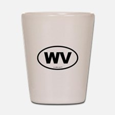 West Virginia WV Euro Oval Shot Glass