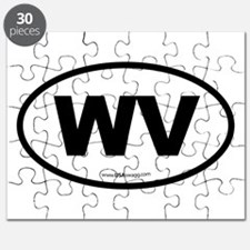 West Virginia WV Euro Oval Puzzle