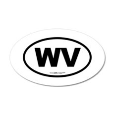 West Virginia WV Euro Oval Wall Decal