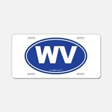 West Virginia WV Euro Oval Aluminum License Plate