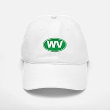 West Virginia WV Euro Oval Baseball Baseball Cap