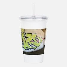 Green Graffiti Acrylic Double-wall Tumbler