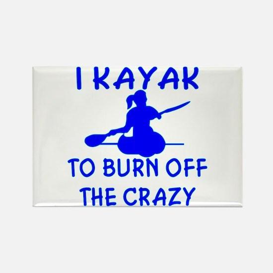I Kayak To Off Crazy Rectangle Magnet