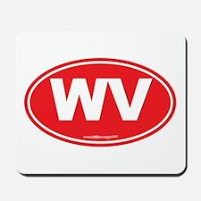 West Virginia WV Euro Oval Mousepad