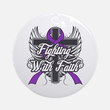 Domestic Violence Faith Round Ornament