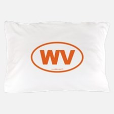 West Virginia WV Euro Oval Pillow Case