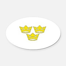 tre-kronor.png Oval Car Magnet
