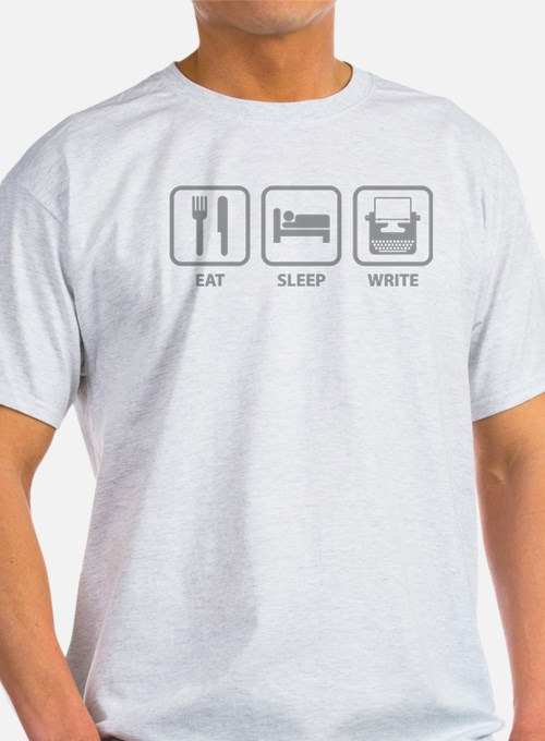 Cute Eat. sleep. write. T-Shirt