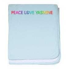 Peace Love Yasmine baby blanket