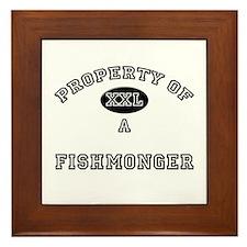 Property of a Fishmonger Framed Tile