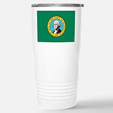 Washington State Flag Thermos Mug