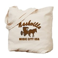 Nashville Music City Carriage-02 Tote Bag
