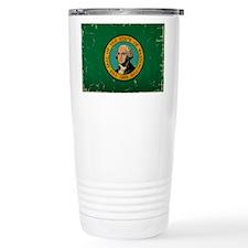 Washington State Flag VINTAGE Travel Mug