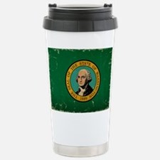 Washington State Flag VINTAGE Travel Mug