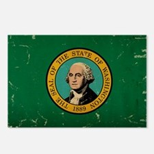 Washington State Flag VINTAGE Postcards (Package o