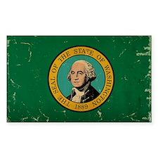 Washington State Flag VINTAGE Decal