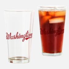 Washington State Script Font Drinking Glass