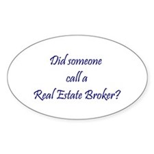 Real Estate Broker Oval Decal