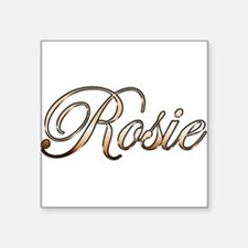 "Cute Rosie Square Sticker 3"" x 3"""
