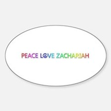 Peace Love Zachariah Oval Decal