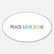 Peace Love Zane Oval Decal