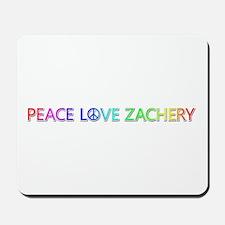 Peace Love Zachery Mousepad