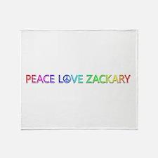 Peace Love Zackary Throw Blanket