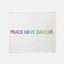 Peace Love Zander Throw Blanket