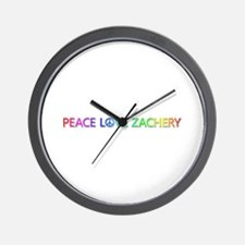 Peace Love Zachery Wall Clock