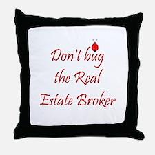 Real Estate Broker Throw Pillow