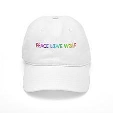 Peace Love Wolf Baseball Cap