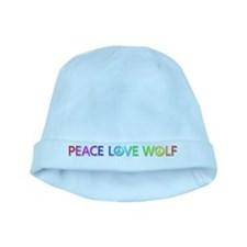 Peace Love Wolf baby hat