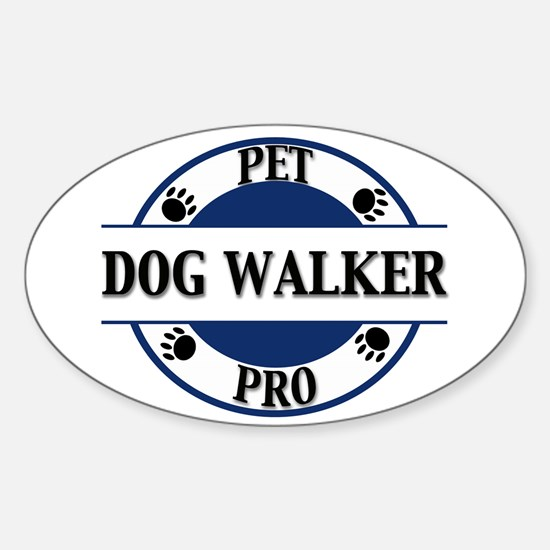 Pet Pro Dog Walker Oval Decal