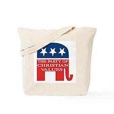GOP Christian Values Tote Bag