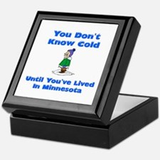 Cute Snow shoveling Keepsake Box