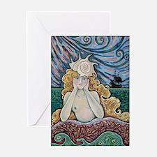 Mermaid Thinking Greeting Card