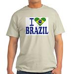 I love Brazil Ash Grey T-Shirt