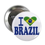 I love Brazil Button