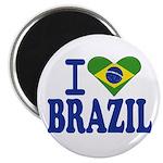"""I love Brazil 2.25"""" Magnet (100 pack)"""