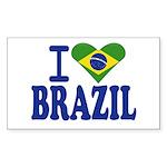 I love Brazil Rectangle Sticker